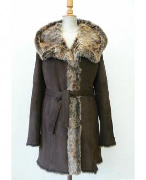 Dámský plášť s kapucí z...
