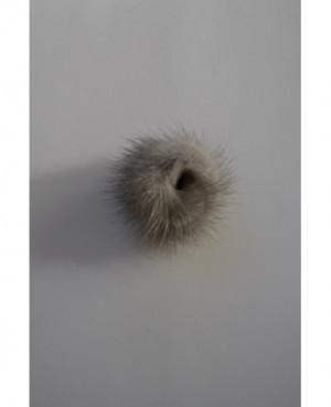 Norkový prtýnek-šedý