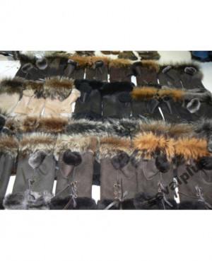 bezprstové kožešinové rukavice