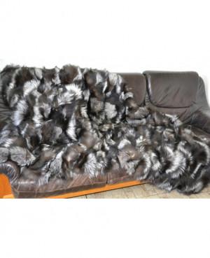 Kožešinová deka / přehoz  - stříbrná...