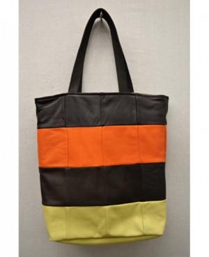 Kožená nákupní taška 36x34 cm
